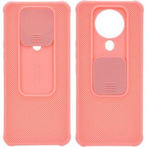 Чехол Camshield TPU со шторкой защищающей камеру для Tecno Spark 6 – Розовый