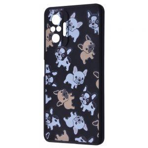TPU чехол WAVE Fancy Case для Xiaomi Redmi Note 10 Pro – Pug / Black