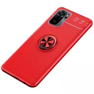 Cиликоновый чехол Deen ColorRing с креплением под магнитный держатель для Xiaomi Redmi Note 10 / Note 10s – Красный
