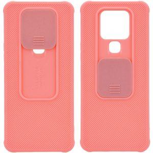 Чехол Camshield TPU со шторкой защищающей камеру для Tecno Camon 16 SE – Розовый