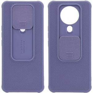 Чехол Camshield TPU со шторкой защищающей камеру для Tecno Spark 6 – Серый / Lavender Gray