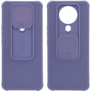 Чехол Camshield TPU со шторкой защищающей камеру для Tecno Spark 6 Go – Серый / Lavender Gray
