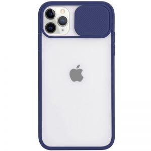 Чехол Camshield mate TPU со шторкой для камеры для Iphone 12 Pro Max – Синий