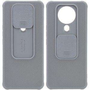 Чехол Camshield TPU со шторкой защищающей камеру для Tecno Spark 6 – Серый
