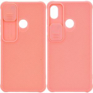 Чехол Camshield TPU со шторкой защищающей камеру для Tecno POP 3 – Розовый