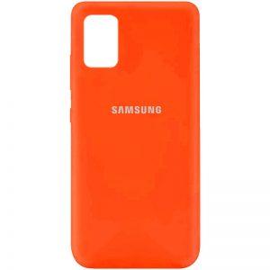 Оригинальный чехол Silicone Cover 360 с микрофиброй для Samsung Galaxy A71 – Оранжевый / Neon Orange