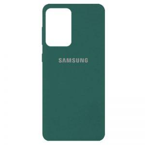 Оригинальный чехол Silicone Cover 360 с микрофиброй для Samsung Galaxy A72 – Зеленый / Pine green
