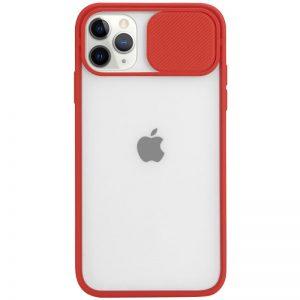 Чехол Camshield mate TPU со шторкой для камеры для Iphone 12 Pro Max – Красный