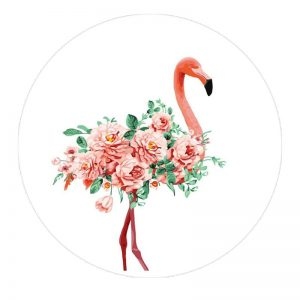 Держатель для телефона PopSockets Glass – Фламинго / Белый
