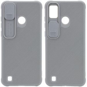 Чехол Camshield TPU со шторкой защищающей камеру для Tecno POP 4 Pro (BC3) – Серый