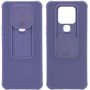 Чехол Camshield TPU со шторкой защищающей камеру для Tecno Camon 16 SE – Серый / Lavender Gray