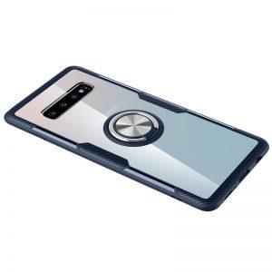 Чехол TPU+PC Deen CrystalRing с креплением под магнитный держатель для Samsung Galaxy S10 Plus (G975) – Темно-синий