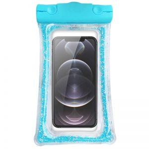 Водонепроницаемый универсальный чехол 6,5 Liquid Glitter – Синий