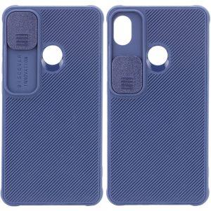 Чехол Camshield TPU со шторкой защищающей камеру для Tecno POP 3 – Синий
