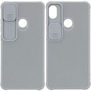 Чехол Camshield TPU со шторкой защищающей камеру для Tecno POP 3 – Серый