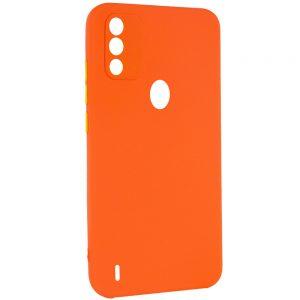 Чехол TPU Square Full Camera для Tecno Spark 6 Go – Оранжевый