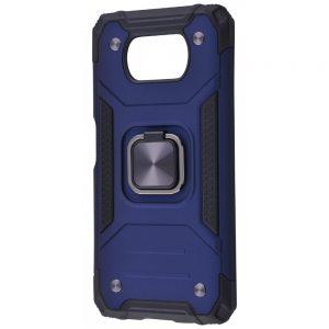 Ударопрочный чехол Hard Defence под магнитный держатель для Xiaomi Poco X3 Pro / Poco X3 NFC – Blue