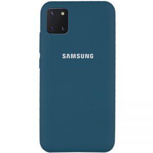 Оригинальный чехол Silicone Cover 360 с микрофиброй для Samsung Galaxy Note 10 Lite – Синий / Cosmos blue