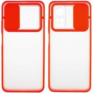 Чехол Camshield mate TPU со шторкой для камеры для Xiaomi Mi 10T / Mi 10T Pro – Красный