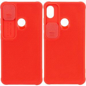 Чехол Camshield TPU со шторкой защищающей камеру для Tecno POP 3 – Красный
