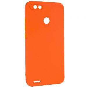 Чехол TPU Square Full Camera для Tecno POP 2F – Оранжевый