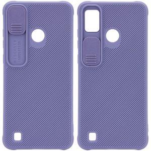 Чехол Camshield TPU со шторкой защищающей камеру для Tecno POP 4 Pro (BC3) – Серый / Lavender Gray