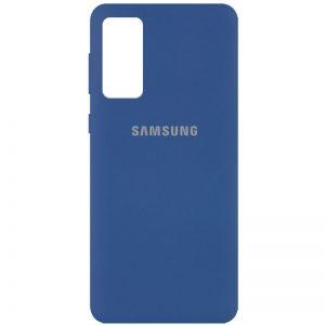 Оригинальный чехол Silicone Cover 360 с микрофиброй для Samsung Galaxy S20 FE – Синий / Navy Blue