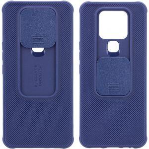 Чехол Camshield TPU со шторкой защищающей камеру для Tecno Camon 16 SE – Синий