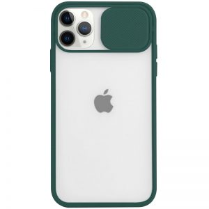 Чехол Camshield mate TPU со шторкой для камеры для Iphone 12 / 12 Pro – Green