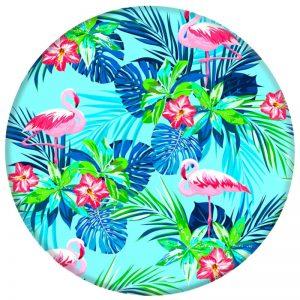Держатель для телефона PopSockets Glass – Фламинго / Зеленый