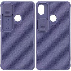 Чехол Camshield TPU со шторкой защищающей камеру для Tecno POP 3 – Серый / Lavender Gray