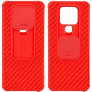 Чехол Camshield TPU со шторкой защищающей камеру для Tecno Camon 16 SE – Красный