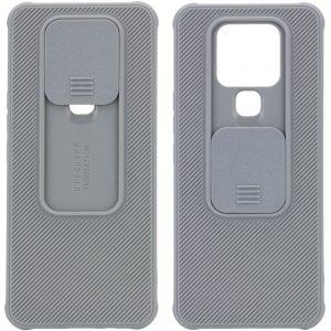 Чехол Camshield TPU со шторкой защищающей камеру для Tecno Camon 16 SE – Серый