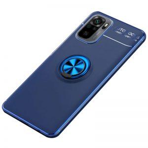 Cиликоновый чехол Deen ColorRing с креплением под магнитный держатель для Xiaomi Redmi Note 10 / Note 10s – Синий