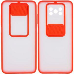 Чехол Camshield mate TPU со шторкой для камеры для Xiaomi Poco X3 NFC / Poco X3 Pro – Красный