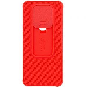 Чехол Camshield TPU со шторкой защищающей камеру для Tecno Spark 6 – Красный