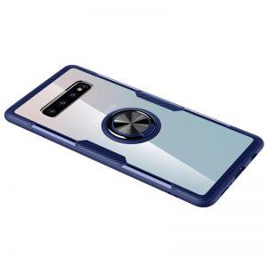 Чехол TPU+PC Deen CrystalRing с креплением под магнитный держатель для Samsung Galaxy S10 (G973) – Синий