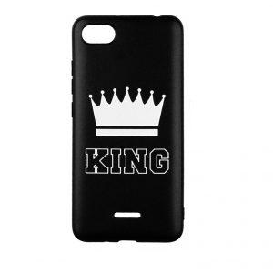 Силиконовый TPU чехол TOTO Pure Print Case с рисунком для Xiaomi Redmi 6A – King Black