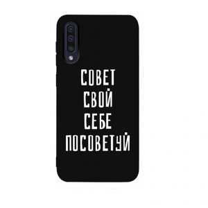 Силиконовый чехол TOTO Matt Print Case для Samsung Galaxy A50 / A30s – Sovet Black