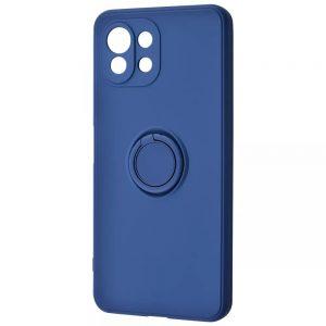 Чехол WAVE Light Color Ring c креплением под магнитный держатель для Xiaomi Mi 11 Lite – Blue