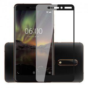 Защитное стекло 3D (5D) Full Glue Armor Glass на весь экран для Nokia 6.1 – Black