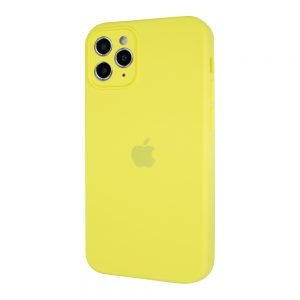 Защитный чехол Silicone Cover 360 Square Full для Iphone 11 Pro Max – Lemon