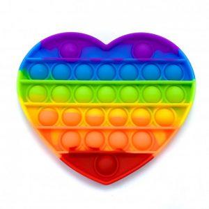 Антистресс игрушка Pop It Bubble Dimbl (Поп-ит) – Сердце
