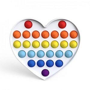 Антистресс игрушка Simple Dimple (Симпл-димпл) – Английский алфавит сердце