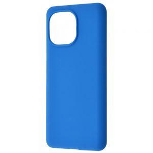 Чехол Silicone Case WAVE Full с микрофиброй для Xiaomi Mi 11 Lite – Blue