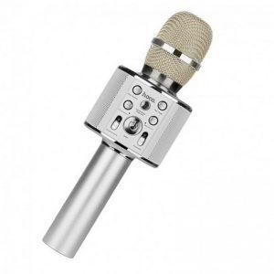 Караоке микрофон-колонка Hoco BK3 Cool Sound – Silver
