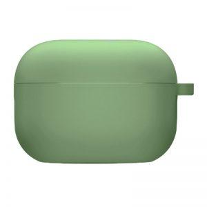 Силиконовый чехол для наушников с микрофиброй для Apple Airpods Pro – Мятный / Mint