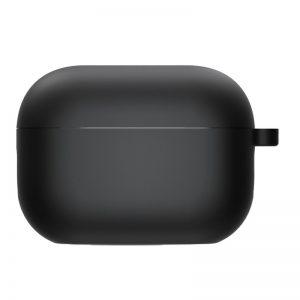 Силиконовый чехол для наушников с микрофиброй для Apple Airpods Pro – Черный / Black