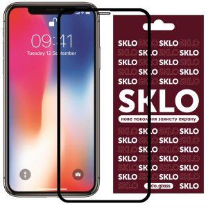 Защитное стекло 3D / 5D Premium SKLO Full Glue на весь экран для Iphone X / XS / 11 Pro – Black