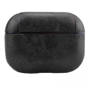 Чехол для наушников Leather series + карабин для Apple Airpods Pro – Черный